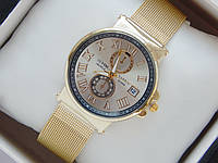 Мужские (Женские) кварцевые наручные часы Ulysse Nardin на металлическом ремешке с датой