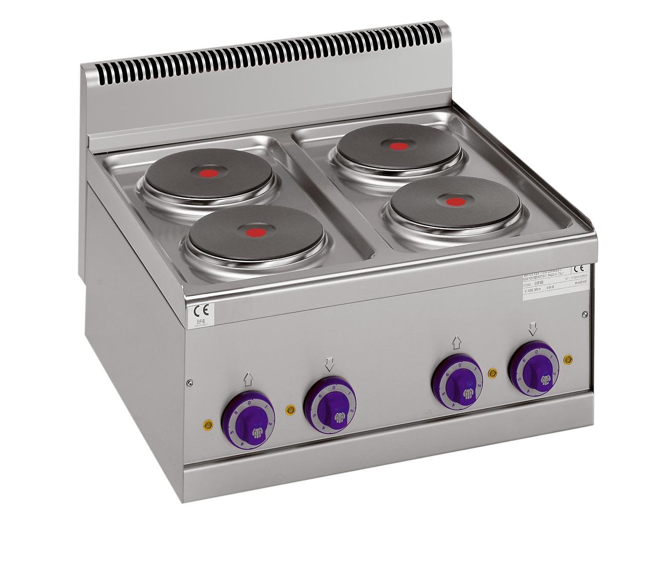 Плита электрическая 4-х конфорочная настольная Bertos E6P4B