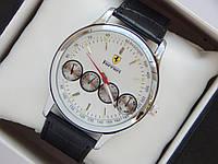 Мужские кварцевые наручные часы Ferrari на кожаном ремешке, фото 1