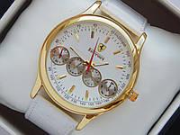 Мужские кварцевые наручные часы Ferrari на кожаном ремешке