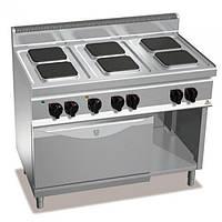 Плита электрическая 6-ти конфорочная с духовкой 3,5 кВт Bertos E7PQ6+FE1
