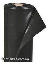 Чёрная строительная плёнка плёнка InterRais 1.5м-100м, 80мкм (рукав для укрытия)