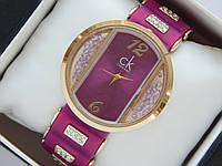 Женские кварцевые наручные часы Calvin Klein на силиконовом ремешке со стразами