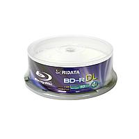 Диск блюрей ridata bd-r dl 50 Гб 4x cake 15 штук printable fullface