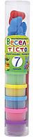 Пластилиновая паста 1 Вересня Веселое тесто 7 цветов 30 гр + 8 форм в пластиковой тубе