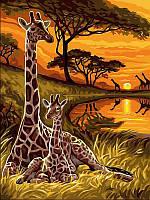 Картины по номерам 30×40 см. Маленький жираф, фото 1