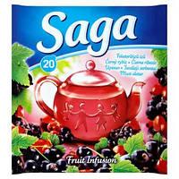 Saga чай фруктовый в пакет. Черн. смородина, 20 шт.