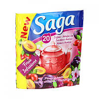 Saga чай фруктовый в пакет. Слива-корица, 20 шт.
