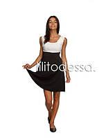 Платье комбинированное белый, фото 1