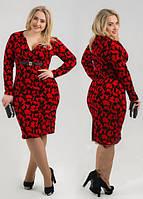 Платье женское короткое повседневное с узорами P1177, фото 1