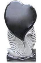 Пам'ятники з граніту (серце) (Зразок №130)