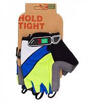 Перчатки Green Cycle NC-2505-2015 MTB Gel без пальцев L зелено-синие