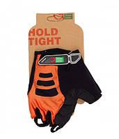 Перчатки Green Cycle NC-2507-2015 MTB Gel без пальцев S оранжево-черные