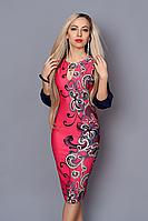 Стильное платье больших размеров от Ангелины. Размеры 46-56