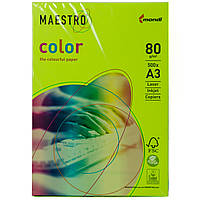 Цветная бумага Maestro А3 г/м² 80 неон зеленый
