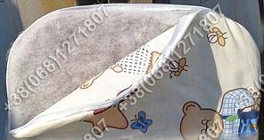 Матрасик в коляску кокосовый 36х80 см со съемным чехлом, фото 2