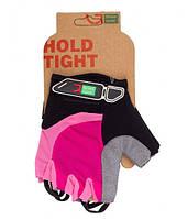 Перчатки Green Cycle NC-2523-2015 MTB Feminine без пальцев M розово-черные
