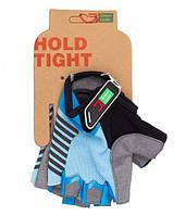 Перчатки Green Cycle NC-2526-2015 MTB Feminine без пальцев L сине-голубые