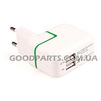 Зарядное устройство сетевое для iPad 2A 2USB (коробка) Оригинал