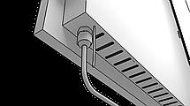 Экономный электрокерамичсекий обогреватель FlyMe 450P черный, фото 3