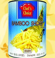Паростки бамбука в воді, соломка, 565 гр, CHEF'S CHOICE, Gf