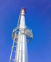 Изготовление и монтаж стальной вентиляционной самонесущей трубы диаметром 1020мм, высотой 37м с площадками обс
