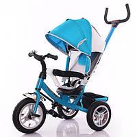 Детский трехколесный велосипед НАДУВНЫЕ КОЛЕСА TILLY Trike T-361 Голубой