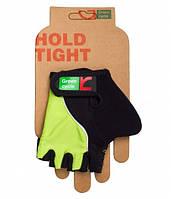 Перчатки Green Cycle NC-2530-2015 Kids без пальцев M черно-зеленые