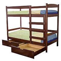 Кровать двухярусная из натурального дерева Мира