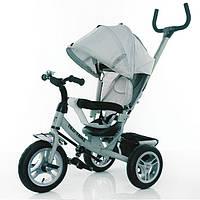 Детский трехколесный велосипед НАДУВНЫЕ КОЛЕСА TILLY Trike T-361 Серый