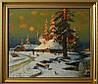 «Зима. Вечер», копия картины Клевер Ю. купить картину маслом в Киеве