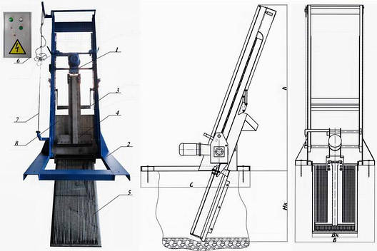 Решетка механическая грабельная рейкового типа РГР-100 (канал 300х600), фото 2