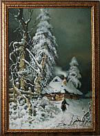 «Зима», копия картины Клевер Ю. картина маслом