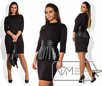 Платье женское баска кожа ОМ/-292
