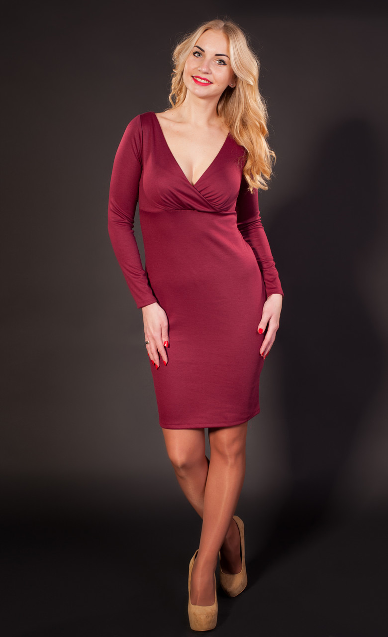 Красивое женское платье из трикотажа - Оптово-розничный интернет-магазин  Fashion Way