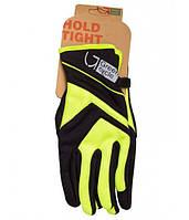 Перчатки Green Cycle NC-2576-2015 WindStop с закрытыми пальцами L черно-зеленые