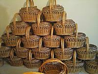 Наборы пасхальных корзин из лозы