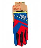 Перчатки Green Cycle NC-2576-2015 WindStop с закрытыми пальцами S красно-синие