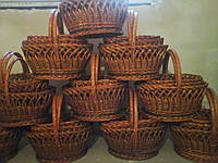 Корзины пасхальные из лозы набор 4 шт