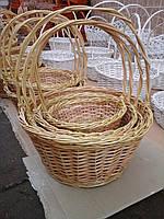 Набор корзин из лозы круглые 4шт