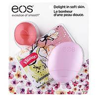 Набор EOS Spring 2016 Limited Edition Trio - бальзам EOS Грейпфрут, крем ягодный, салфетки Kleenex