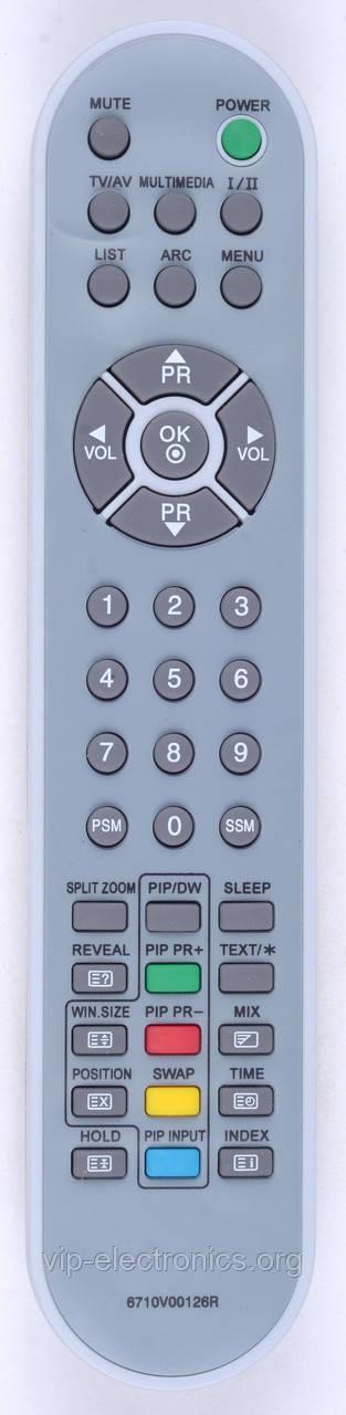 Пульт LG 6710V00126R (TV) (CE)