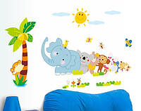 Интерьерная наклейка на стену Веселый Зоопарк