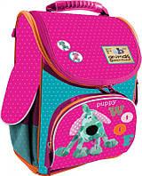 Ранец каркасный 1 Вересня H-11 Fabric Animals для девочек (552143)