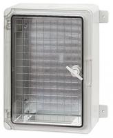 Пластиковый щит с монтажной панелью IP65 влагозащищенный 250 х 350 х 150 мм прозрачная дверца