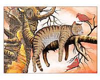 Схема для вышивки бисером кошка на дереве Сладкий Сон