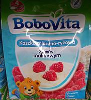 Детская молочно-рисовая каша со вкусом малины с 4 месяцев BoboVita 230 гр