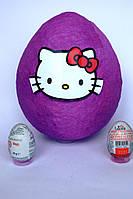 Большое яйцо-сюрприз с игрушками Хелло Кити