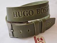 Кожаный мужской ремень HUGO BOSS5-1