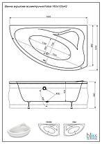 Акриловая ванна асимметричная Bliss Fabia 160x100 правосторонняя, фото 3